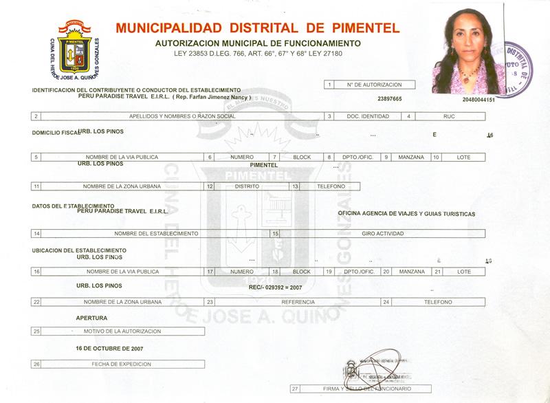 Certificata Pimentel